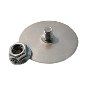 Mounting plate i.FIX i.GLUE stainless steel round incl. locking nut