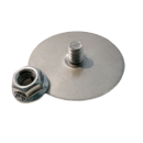 Mounting plate 'i.FIX' i.GLUE stainless steel round incl. locking nut